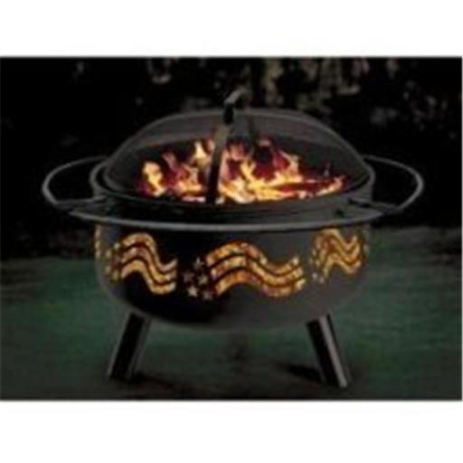 Stone River Gear SRG1FP-FLAG Stars & Stripes Combo Firepit-Grill 1DPYPLG10ROZDVG3