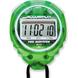 Accusplit A601XLM Pro Survivor Stopwatch with Lime Case