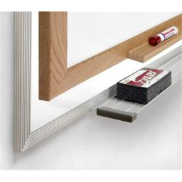 Ghent M3W-410-4 4 ft. x 10 ft. Wood Frame Magnetic Markerboard - 4 Markers and Eraser