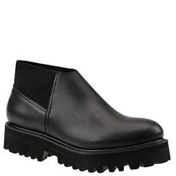 All Black Womens Stretch-It Lugg Closed Toe Ankle Fashion Boots