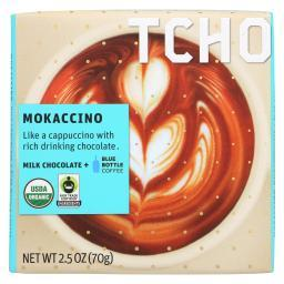Tcho Chocolate Milk Chocolate Bar - Mokaccino - Case of 12 - 2.5 oz.