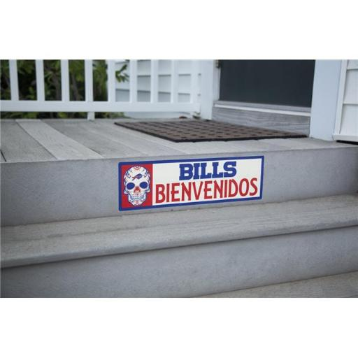 Applied Icon NFSG0403 6 x 20 in. NFL Buffalo Bills Bienvenidos Outdoor Step Graphic Decal, Royal Blue