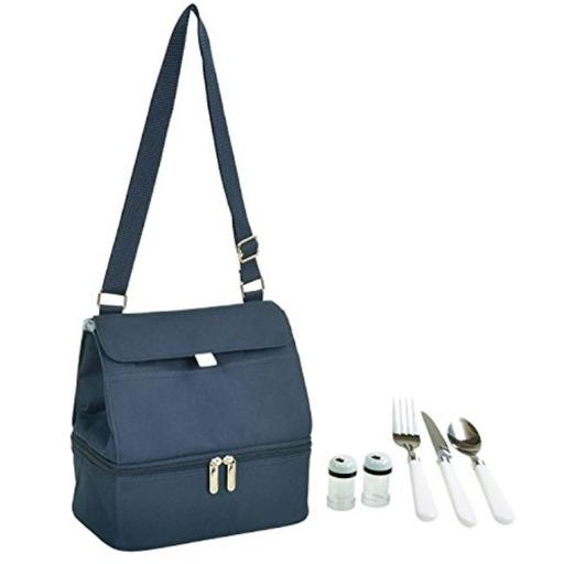 Picnic at Ascot 529D-B Insulated Lunch Bag - Navy Blue