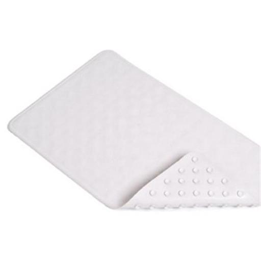 BMAT-C4L04-04 14 x 24 in. White Circles Rubber Bath Mat