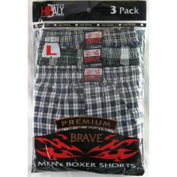 Men's 100% Cotton Boxer Short 3-Pack - Medium