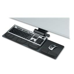 Fellowes, inc. 8018001 provides comfort and maneuverability for smaller workspaces. lift and lock featu