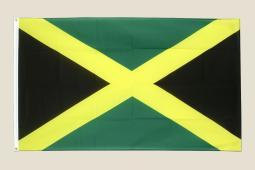 Jamaica Flag 3x5 Black Yellow Green Polyester 2 Brass Grommets Country