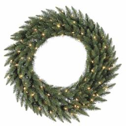 Vickerman A861073LED 72 in. Camdon Fir Wreath 180Led Frost Warm White