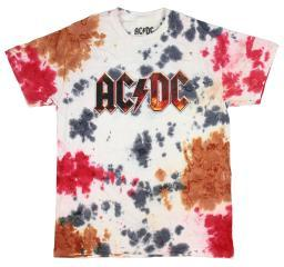 AC/DC Mens Multi Color Fired Up Tie Dye T-Shirt