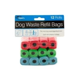 Kole Imports OL996-24 Dog Waste Refill Bags - Pack of 24