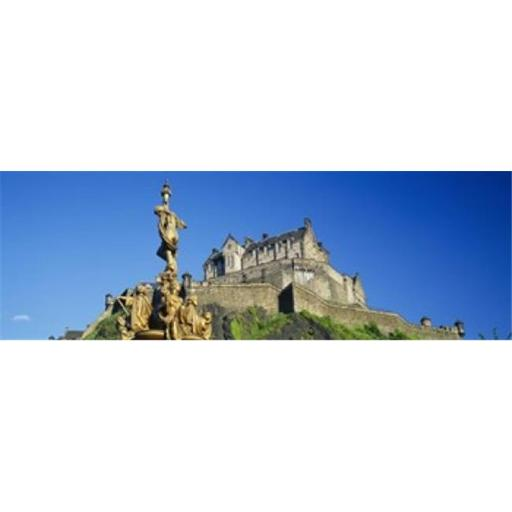 Panoramic Images PPI58991L Low angle view of a castle on a hill Edinburgh Castle Edinburgh Scotland Poster Print by Panoramic Images - 36 x 12