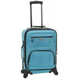 Rockland F2281-TURQUOISE PASADENA 19 in. EXPANDABLE SPINNER CARRY ON - TURQUOISE