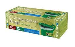 Presto Gkl032194-2 Trash Bag Compostable, 13 Gallon