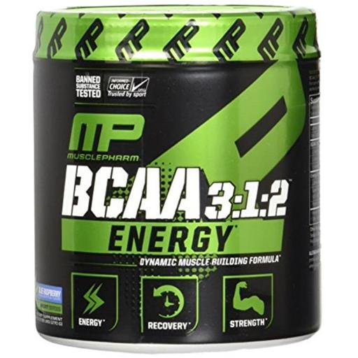 Muscle Pharm 4820211 BCAA 3 isto 1 isto 2 Energy Sport Supplement Blue Raspberry - 30 Serving