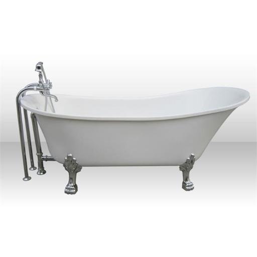 A & E Bath and Shower Dorya Pure Acrylic 69 In. All-in-One Clawfoot Tub Kit