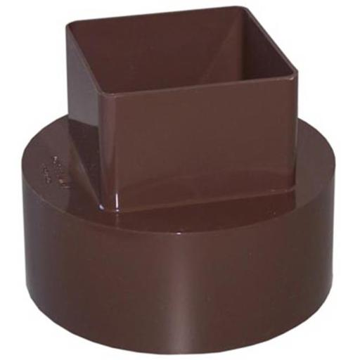Genova Products RB207 Downspout Adapter, Brown