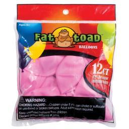 "Fat Toad Balloons Round 12"" 12/pkg-pink Stars"