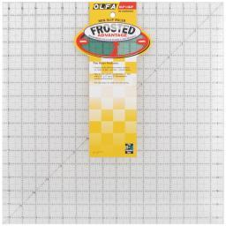 "OLFA Frosted Advantage Non-Slip Ruler ""The Workhorse"" 16-1/2""X16-1/2"""