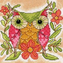"Whimsical Owl Mini Needlepoint Kit-5""X5"" Stitched In Thread 71-07241"