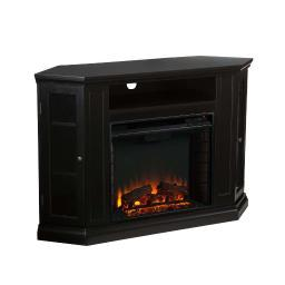 Holly and Martin Ponoma Convertible Media Electric Fireplace in Black