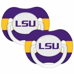 Baby Fanatic 143337 LSU Tigers Pacifiers 2-pack