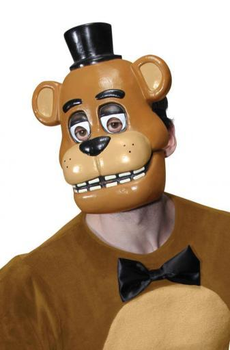 Five Nights At Freddy's 1/2 Mask Adult Fazbear Bear PVC Mask FNAF Horror Game