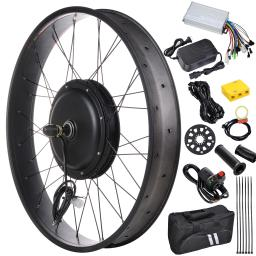 "26"" 48V 1000W Electric Bicycle Front Wheel 470RPM E-Bike Conversion Kit Speed Throttle"