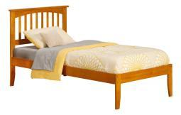 Mission Twin Xl Bed In Caramel Latte