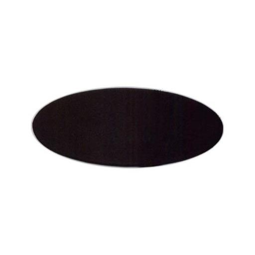 Black Leather 17x14 Oval Conference Table Pad