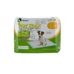 Richell 94541 White Richell Paw Trax Pet Training Pads 30 Count White 17.7 X 23.6 X 0.2
