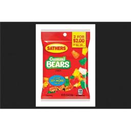 Sathers 01303 4.25 oz Gummi Bear Fruity