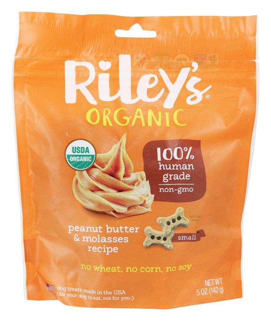 Riley's Organics - Organic Small Bone Dog Treats Peanut Butter and Molasses