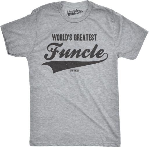 Mens Worlds Greatest Funcle Funny Fun Uncle Family Relationship T shirt