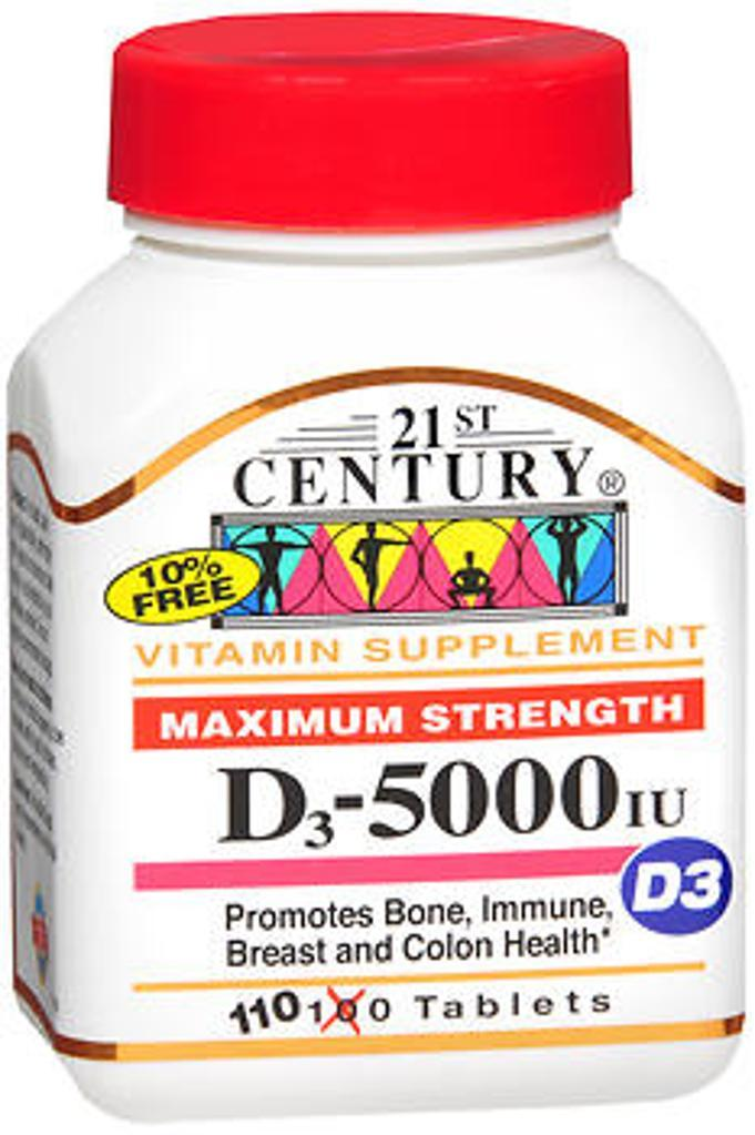 21st Century D3-5000 IU Tablets Maximum Strength Tablets - 110 ct