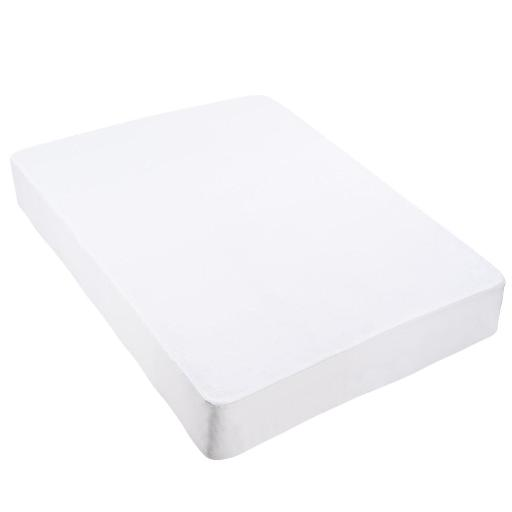 Yescom Cotton Terry Mattress Protector Waterproof Hypoallergenic Vinyl Free Anti Mite Dust Fitted Cover King Home