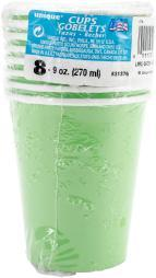 Beverage Cups 9oz 8/Pkg Lime Green