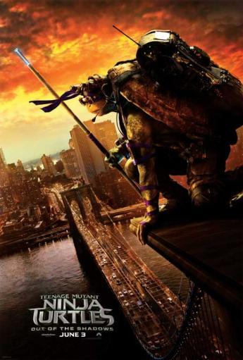 Teenage Mutant Ninja Turtles Out of the Shadows Movie Poster (11 x 17)