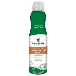 Vet'S Best 3165810471 Green Vet'S Best Dog Flea And Tick Home And Go Spray 6.3Oz Green 2.09 X 2.09 X 8.75
