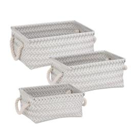 Honey-Can-Do STO-06686 Zig Zag Basket Set of 3 Gray