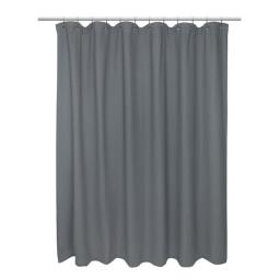 Carnation Home Fashions FCOT1-72-65 72 x 72 in. Standard 100 Percent Cotton Waffle Weave Shower Curtain, Pewter
