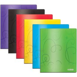 Poly Embossed 2 Pocket Portfolio - Swirl Assorted Colors