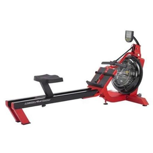 First Degree Fitness FDF-S6-LAGUNA Fitness Rowing Machine, Red & Black
