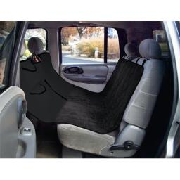 Yes Pets 59-90298BLK Quilt Suede, Waterproof, Tear Proof Hammock Style Car Seat Cover - 100 Percent Polyester, Black