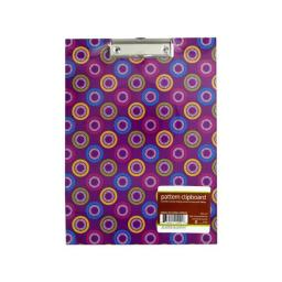 Bulk Buys OP655 Pattern Clipboard With Steel-Chrome Plated Clip
