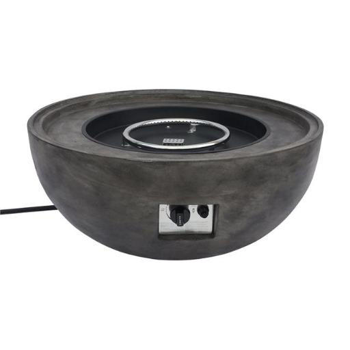 Armen Living LCFPCABR 18-19 x 36 x 36 in. Castaic Outdoor Patio Fire Pit, Brown with Concrete Texture