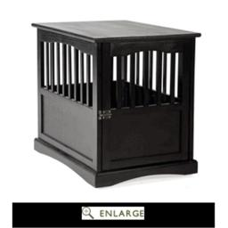 Casual Home 600-22 Pet Crate End Table, Black