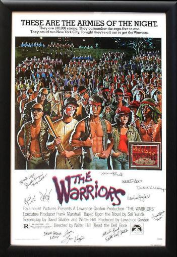 The Warriors - Signed Movie Poster in Wood Frame with COA
