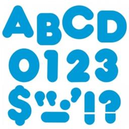 Trend Enterprises T-459BN 4 in. Casual Ready Letters, Blue - Pack of 6