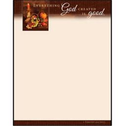 Warner Press 183346 Letterhead - Everything God Created is Good - Thanksgiving - 1 Timothy 4 - 4 - P