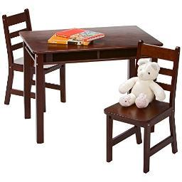 Lipper 534e rect table chair set espresso
